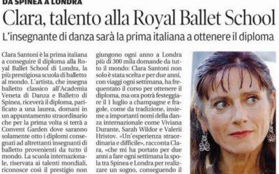Clara, talento italiano alla Royal Ballet School di Londra